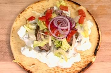 Lamb Gyro with Tzatziki Sauce