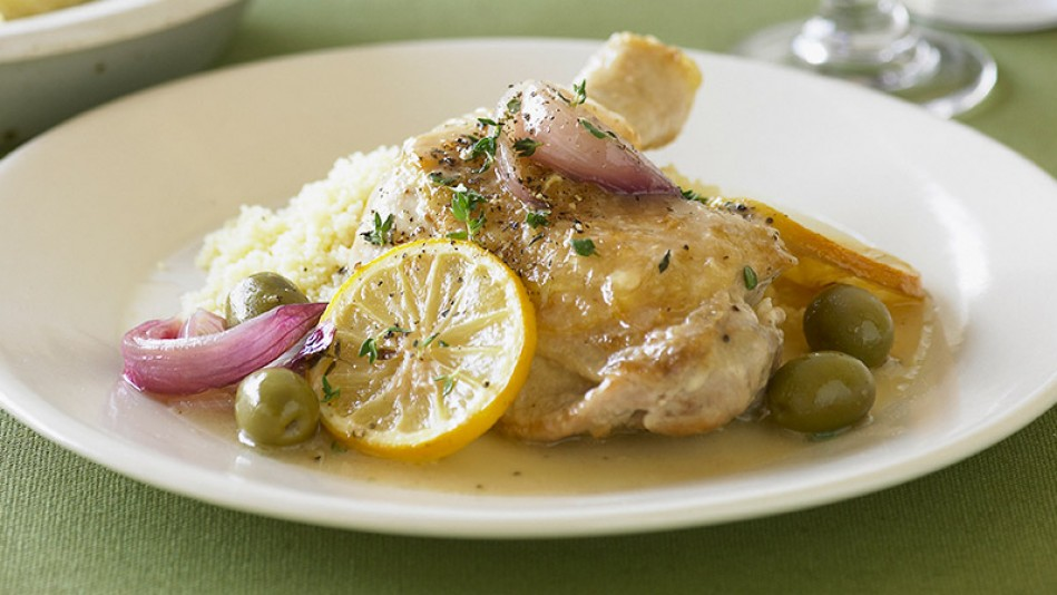 Slow-Cooker Provençal Lemon and Olive Chicken