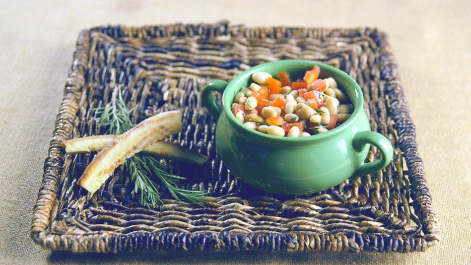 White Beans with Rosemary, Chopped Tomatoes and Olive Oil