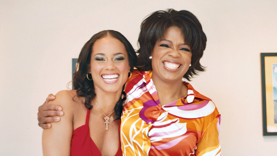 Alicia Keys and Oprah