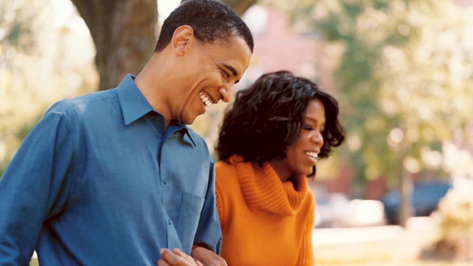 Barack Obama and Oprah