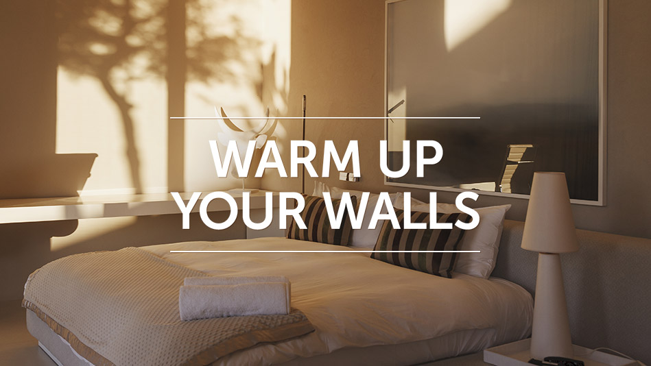 warm up your walls - Simple Ways To Decorate Your Bedroom