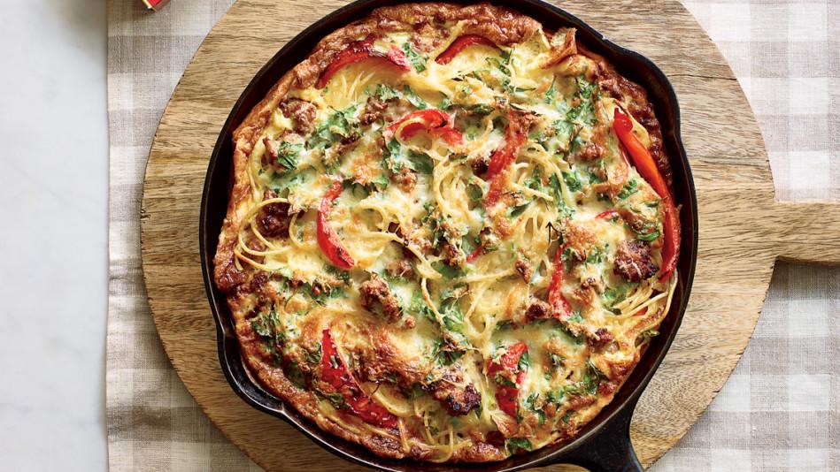 Breakfast Pasta Frittata Recipe