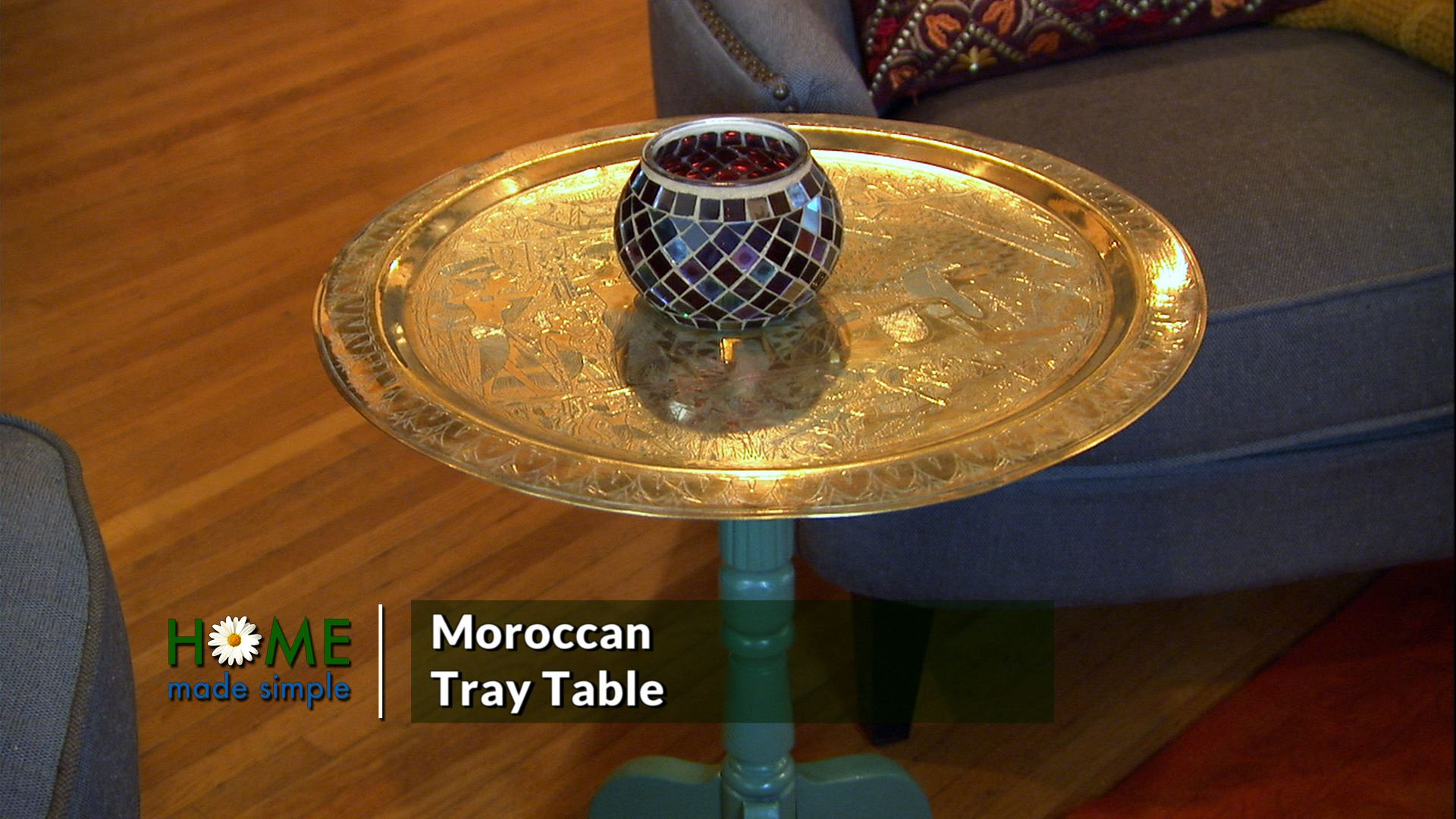 3 Easy Steps to Turn Thrift Shop Finds into a Moroccan Tray Table
