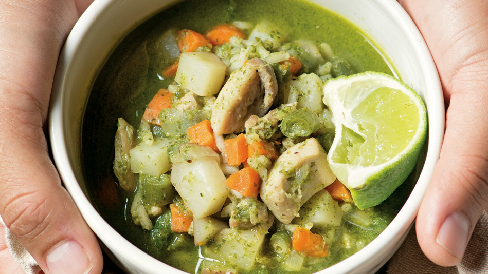 Peruvian Chicken Lime Soup (Aguadito de Pollo)