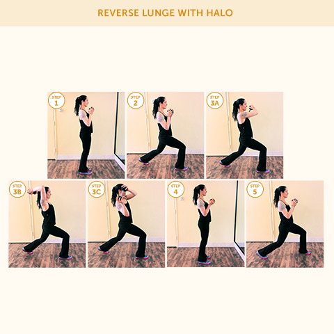 Reverse Lunge with Halo
