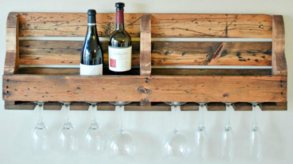 Wood Pallet Wine Rack