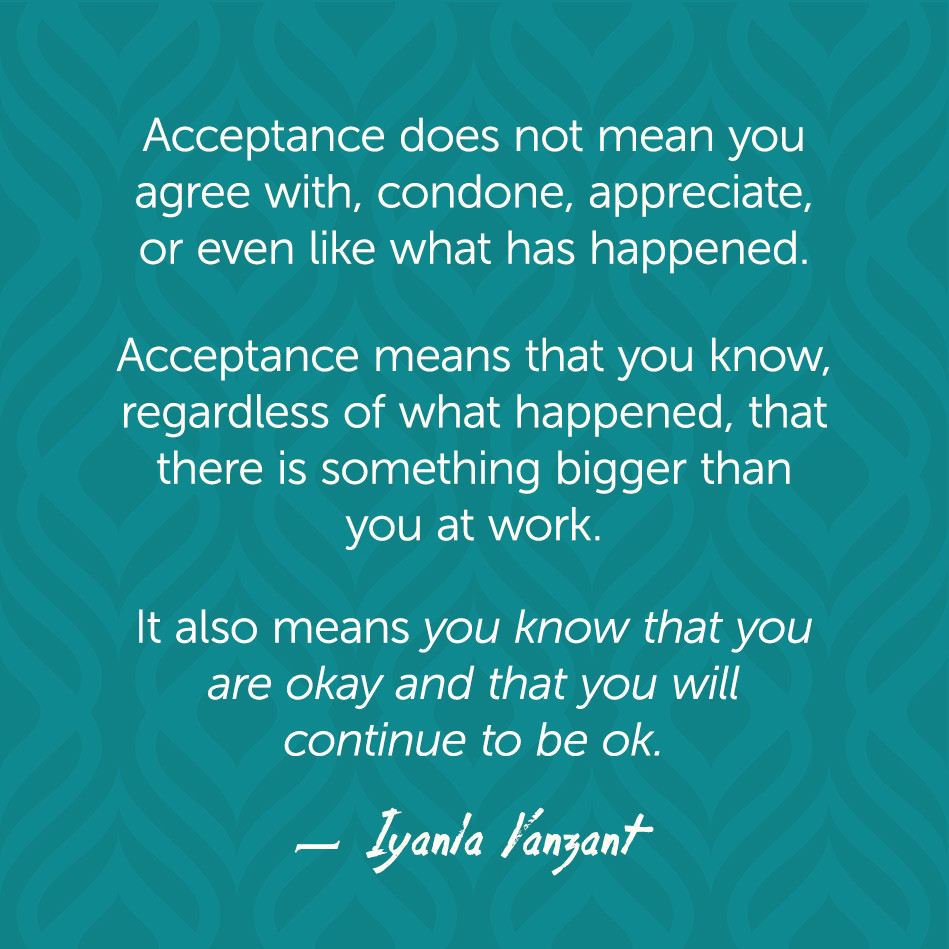 Acceptance Quotes Iyanla Vanzant Quotes  Acceptance