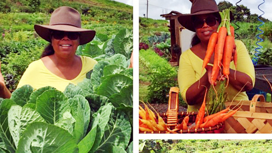 oprah and her collard greens, carrots