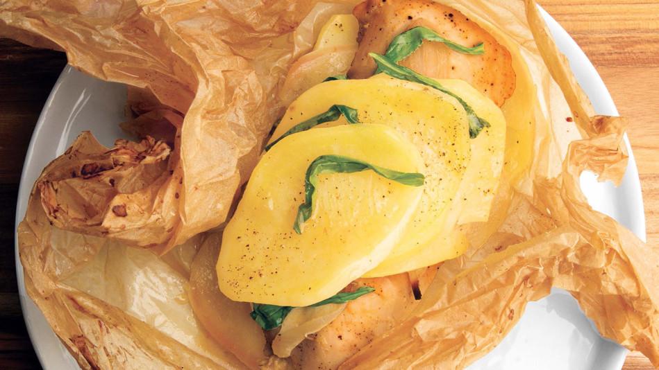 Chicken en Papillote with Mustard Recipe