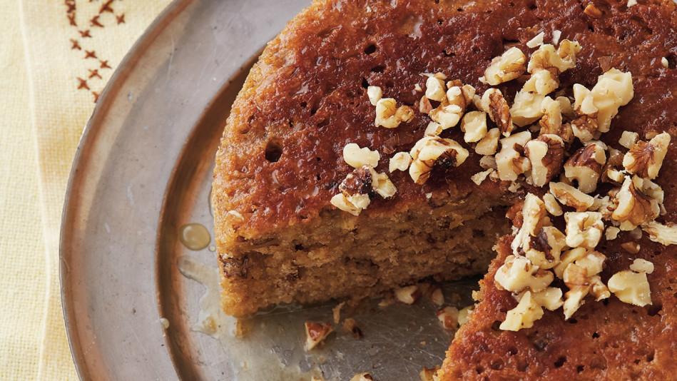 Cider-Glazed Apple-Walnut Cake Recipe