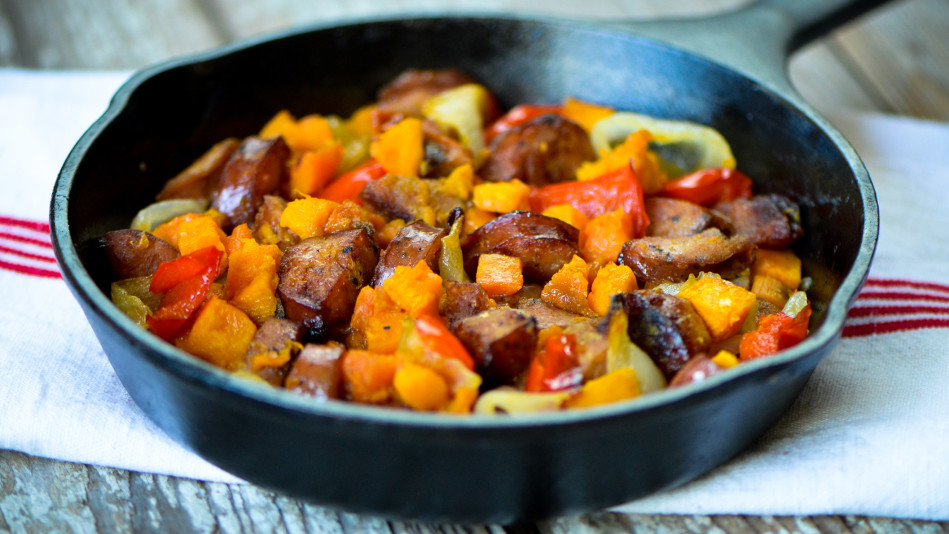 Sweet Potato and Chicken Sausage Hash Recipe