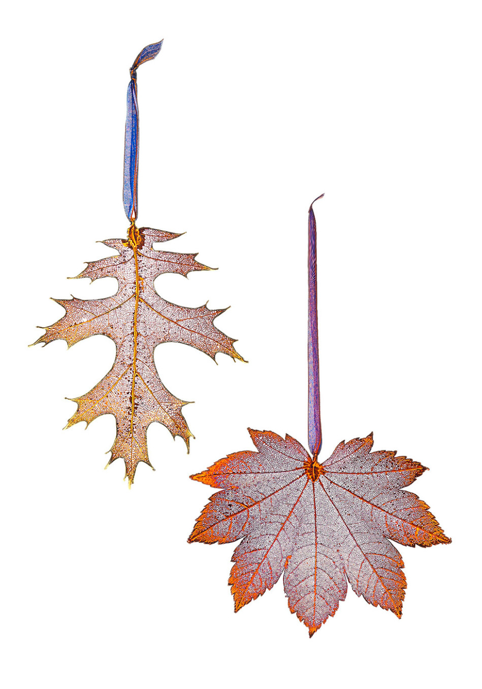 Leaf Ornaments Preserved in Gold, Silver or Copper