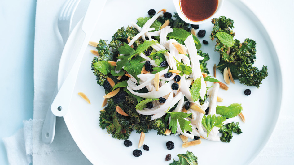 Crispy Spiced Kale and Chicken Salad