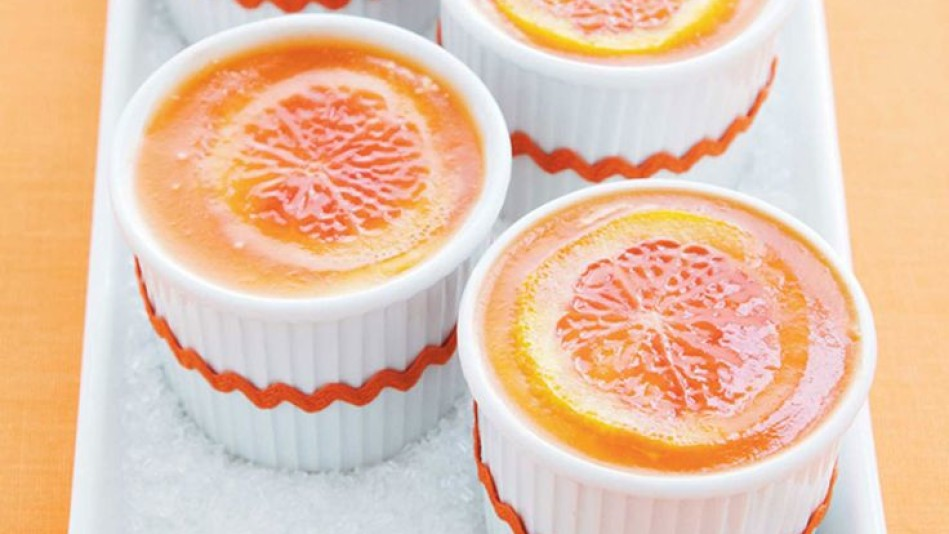 Cheesecake Mousse with Blood Orange Gelee