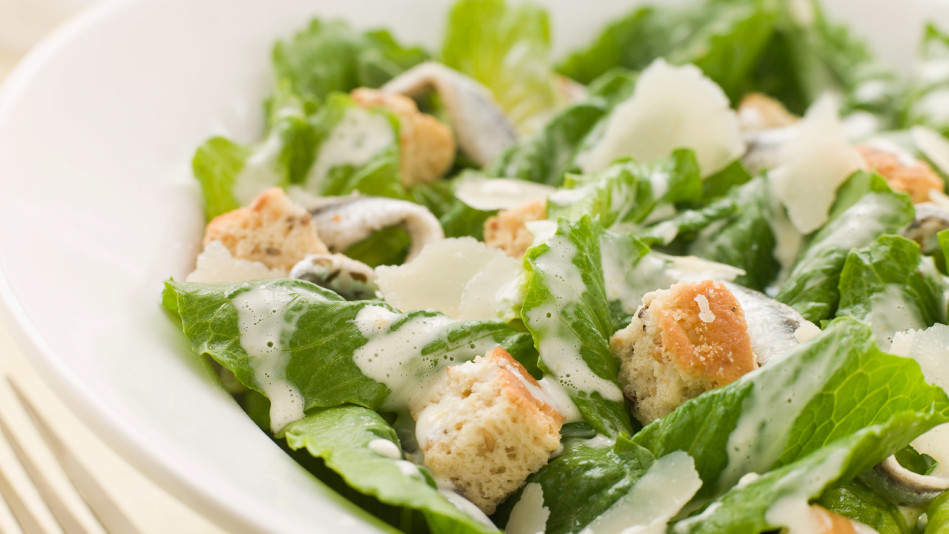 Caesar Salad with Sourdough Croutons Recipe