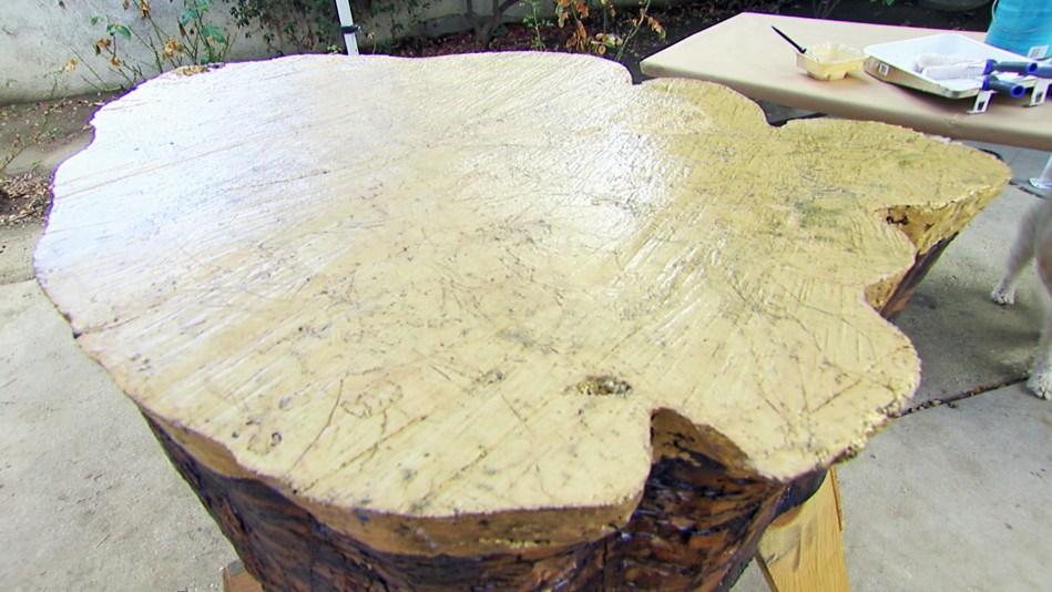 Transform a Tree Stump into a One-of-a-Kind Coffee Table