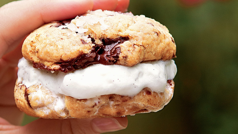 Salted Chocolate Chip Cookie Sandwich Recipe