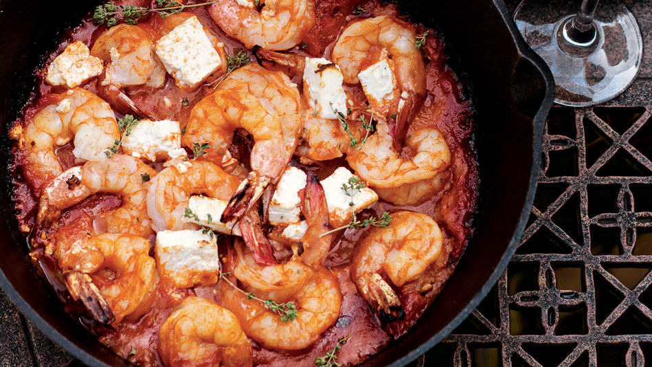 20-Minute Skillet-Baked Shrimp and Feta Recipe