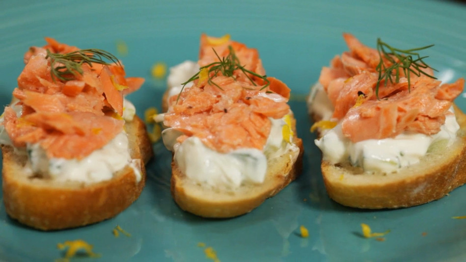 A Quick Crowd-Pleaser: Salmon Crostini