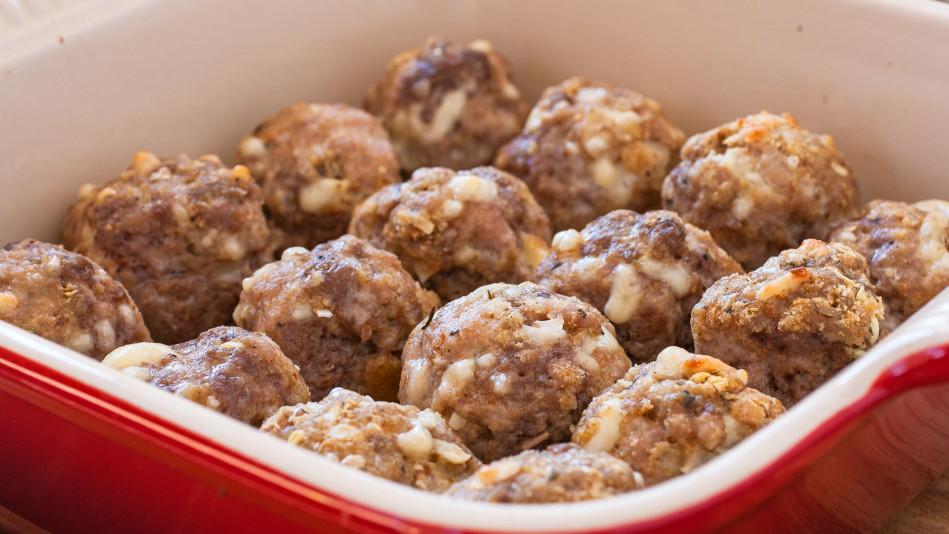 Italian-Herb Baked Meatballs Recipe