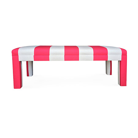 striped bench