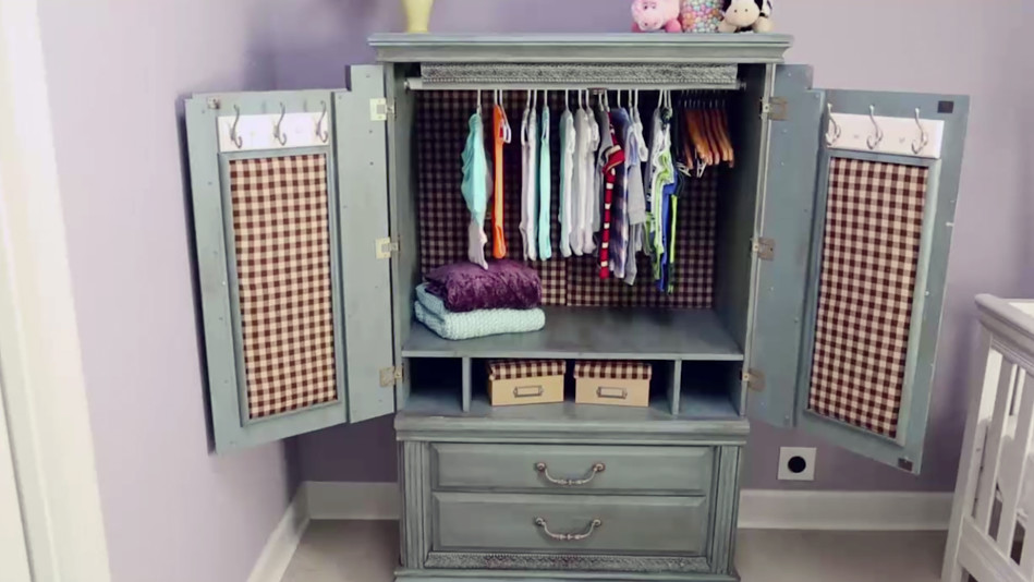Turn an Old TV Cabinet into A Stunning Baby Armoire
