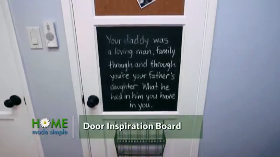 Get Motivated and Organized by Embellishing Your Door