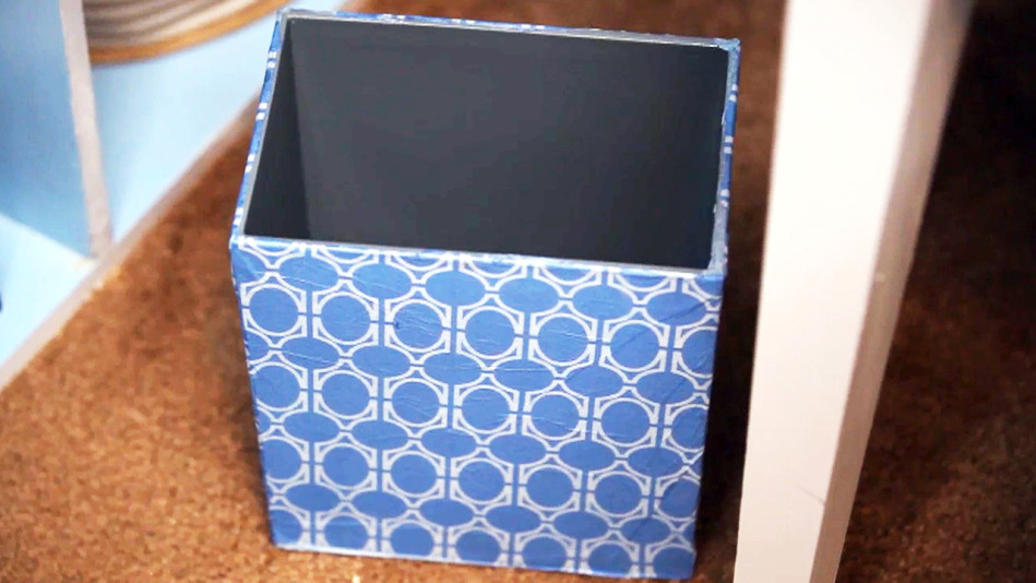 From Trash to Treasure: Create a Decoupage Waste Basket