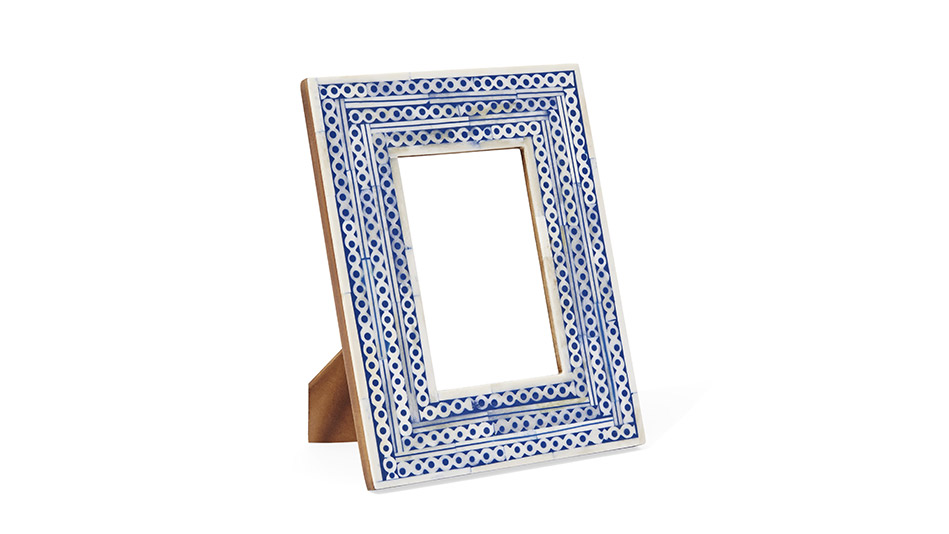 blue and white frame