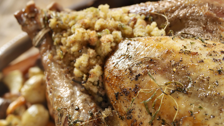 Savory rubs and stuffing combinations