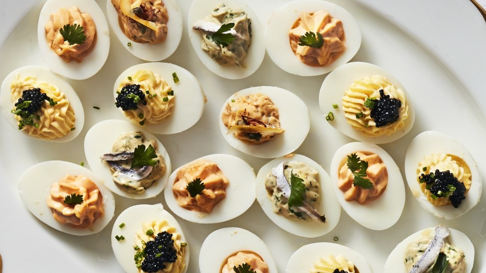 Make-ahead deviled eggs