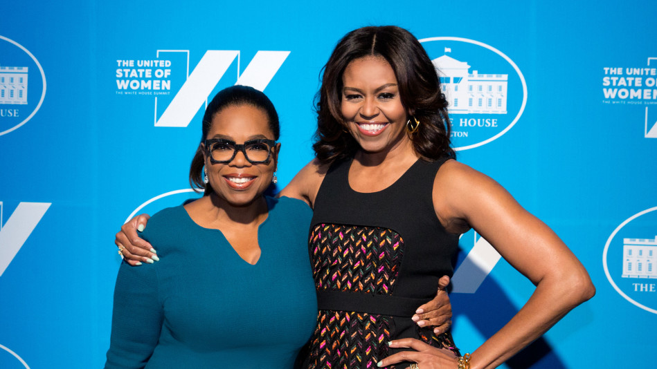 Oprah Winfrey and Michelle Obama