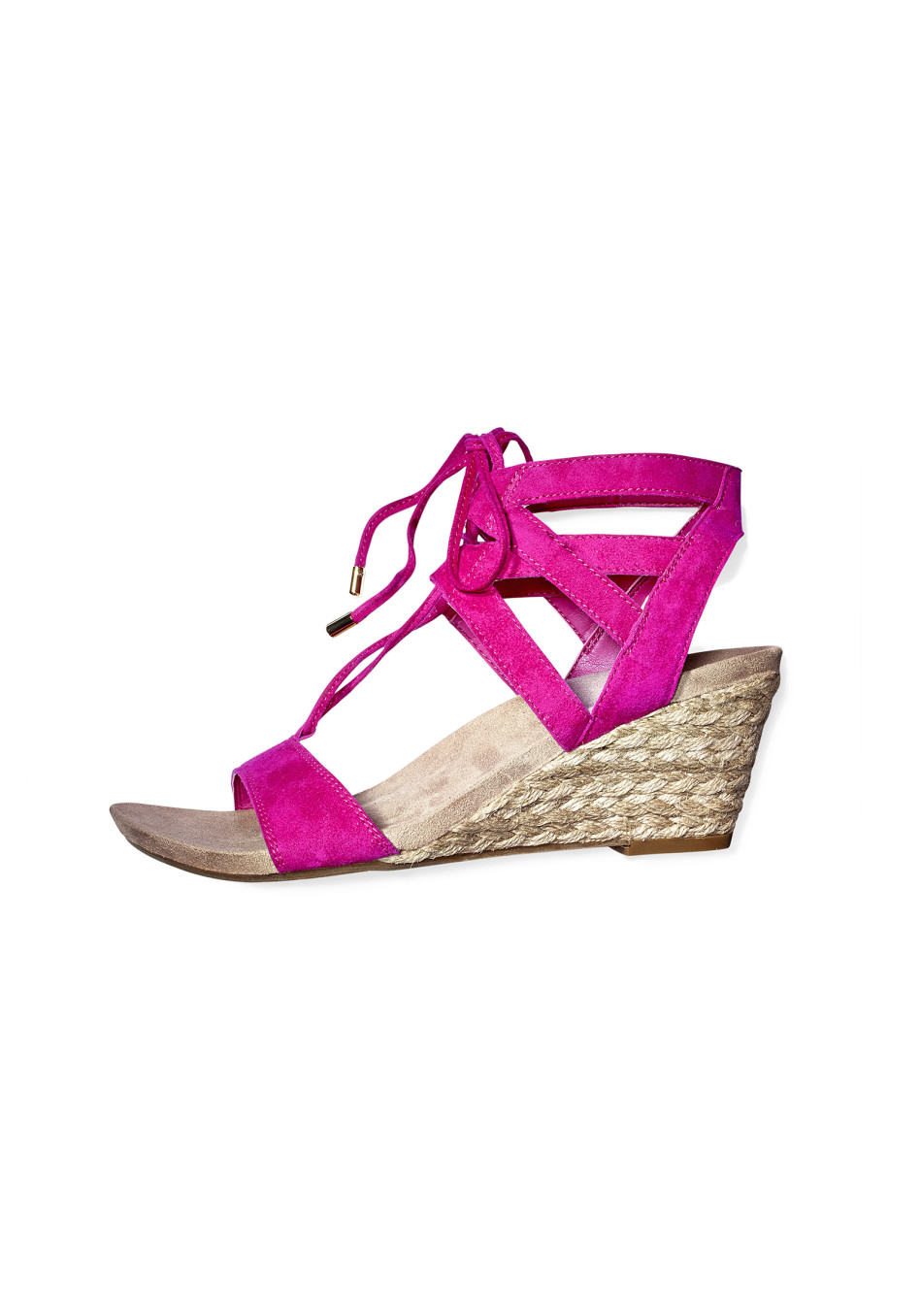 comfortable heels pink wedge heel