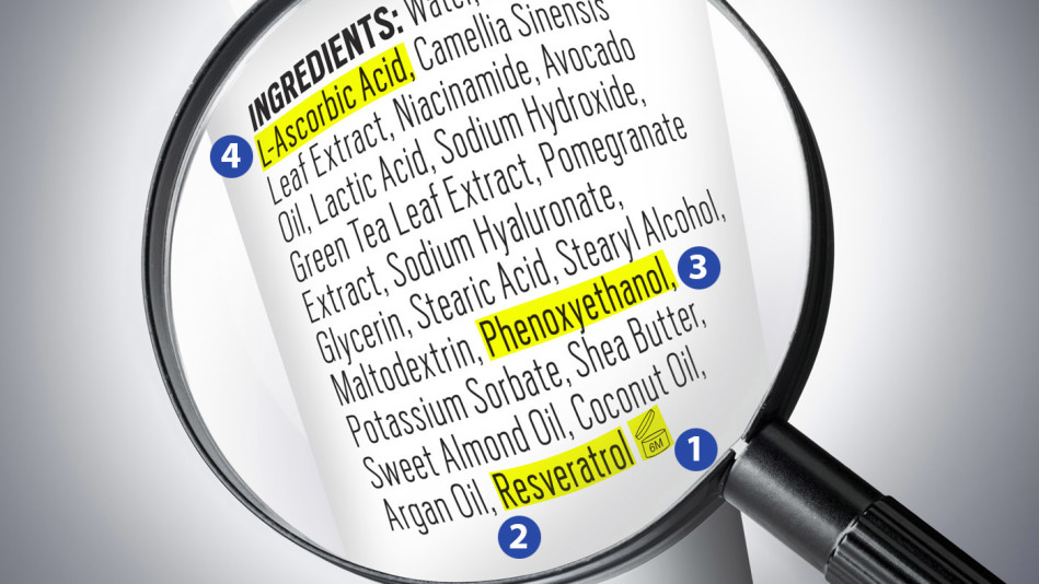 reading an ingredients label