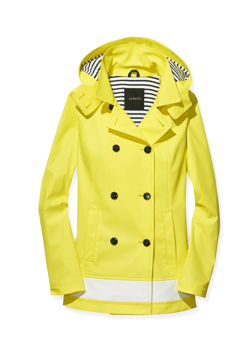 Talbots Classic Hooded Raincoat In Sunray