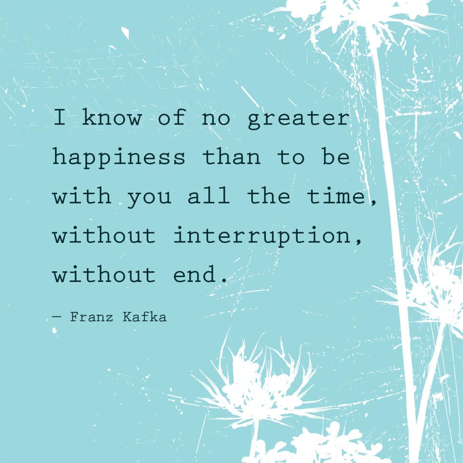Romantic Quotes - Franz Kafka