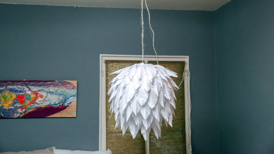 DIY Paper Feather Chandelier Video