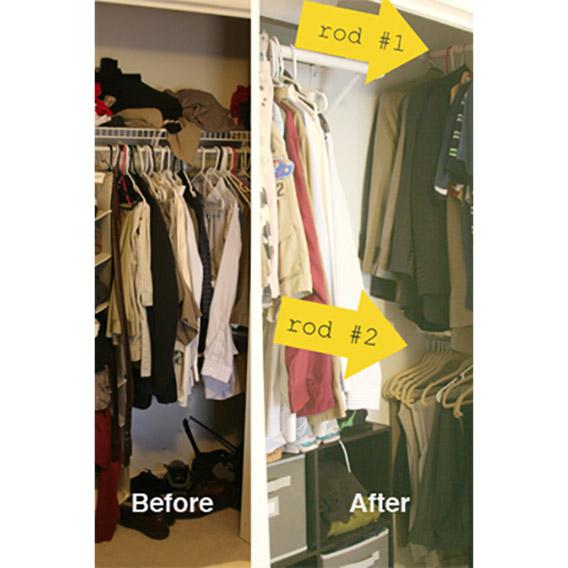 Closet Organzing Hack