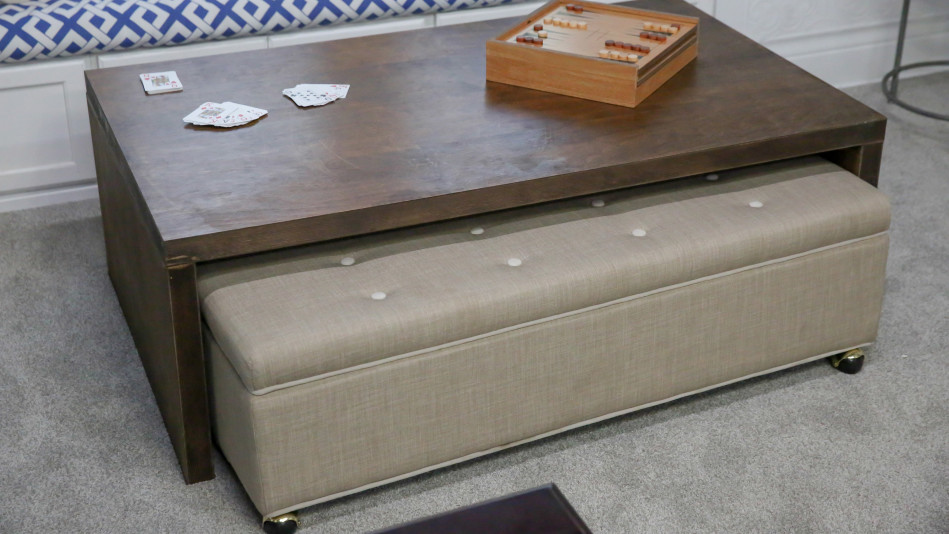 Rolling Ottoman Coffee Table.Rolling Ottoman Video