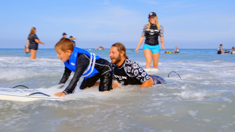A Surf School That Teaches Visually Impaired Kids