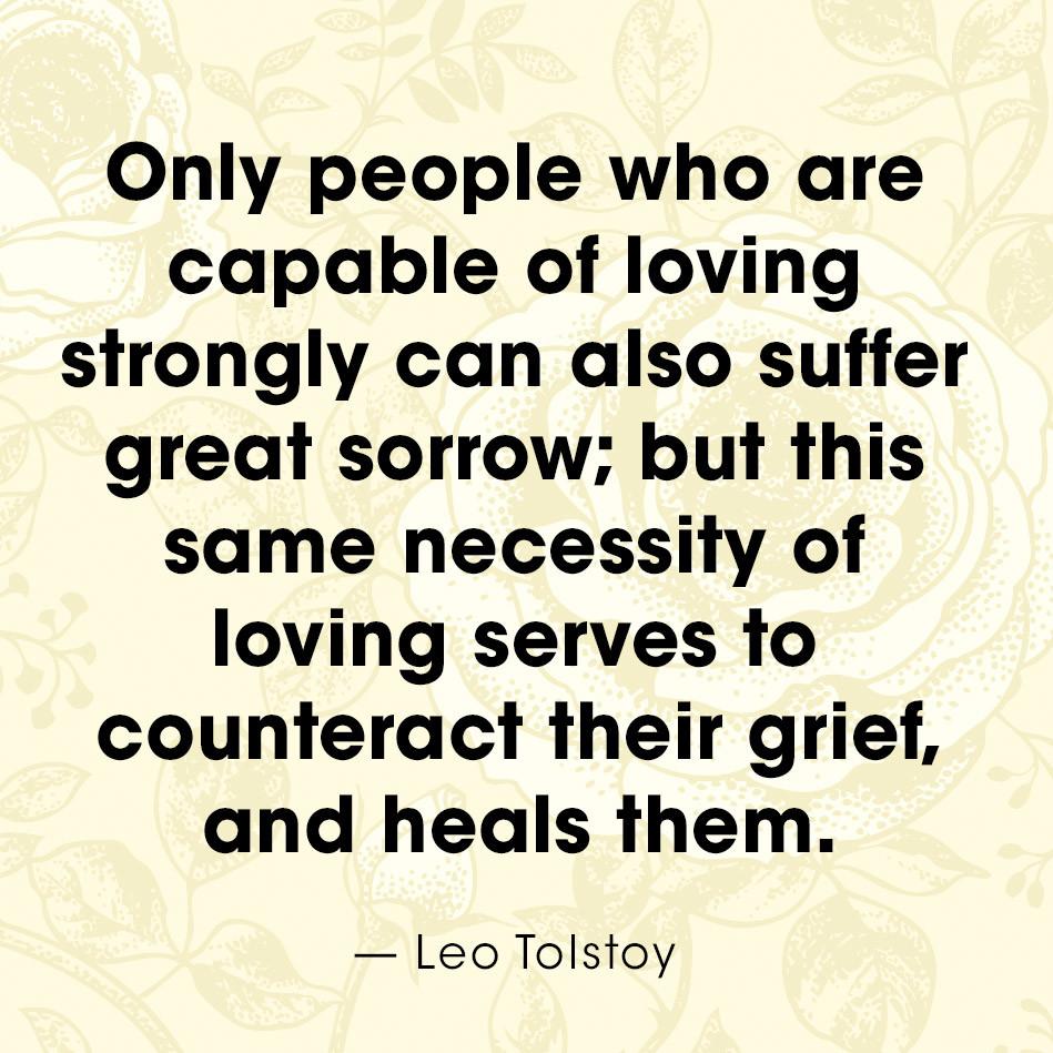 Grief Quote Leo Tolstoy Quote  Grief