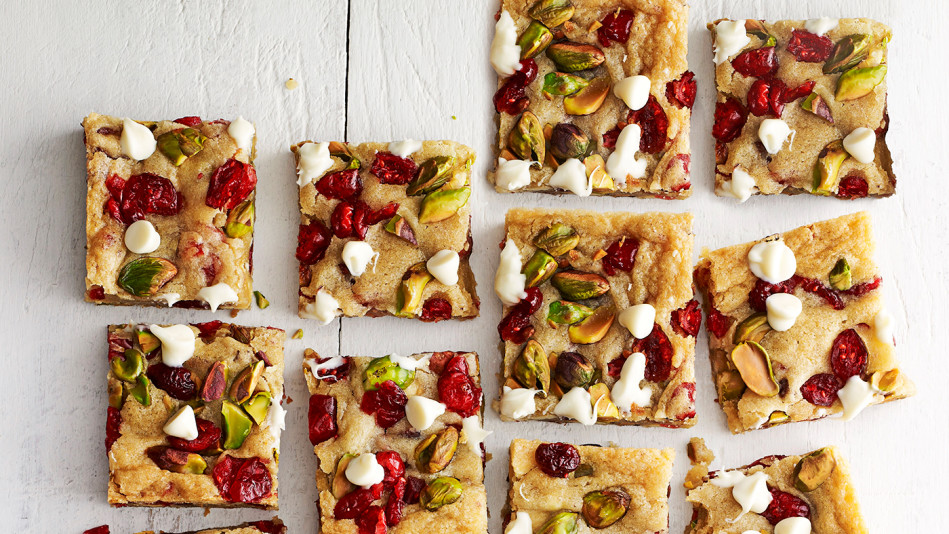 Cranberry Pistachio Blondies Recipe