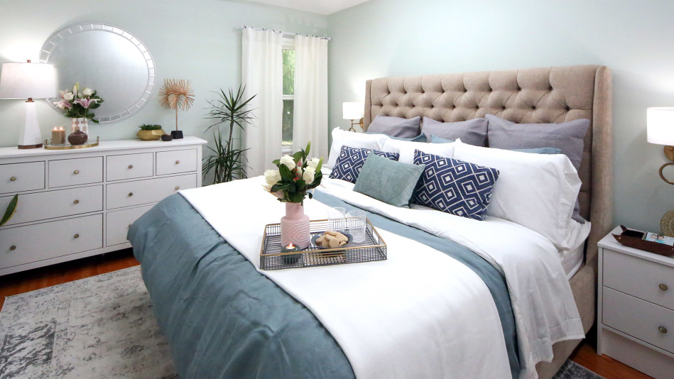 A Serene Bedroom Makeover for a Mom Who Survived Cancer. Serene Bedroom Makeover for a Mom Who Survived Cancer