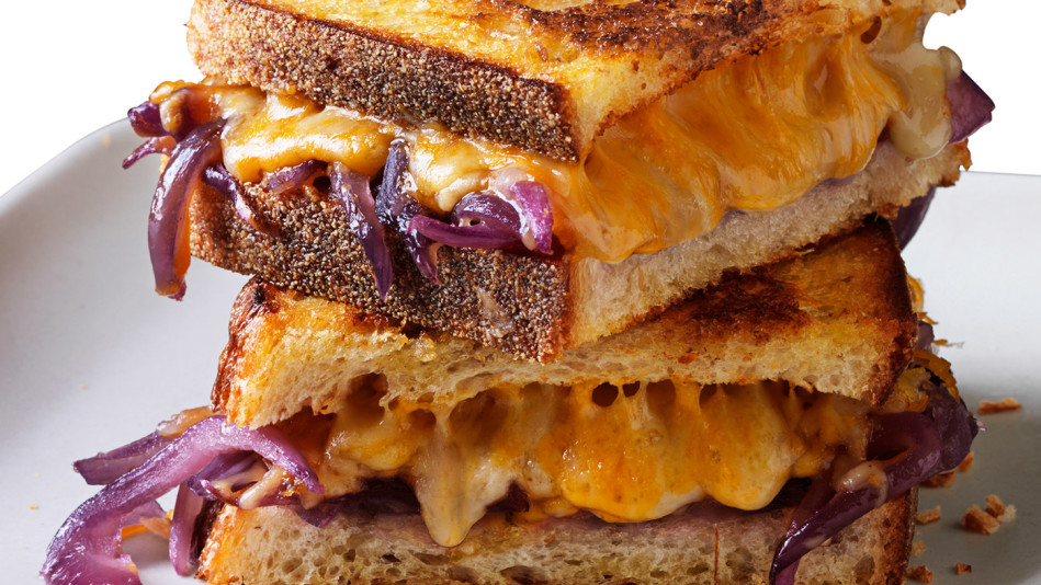 Grilled Cheese with Bourbon Onions Recipe