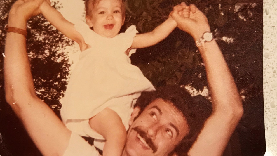Author with her father