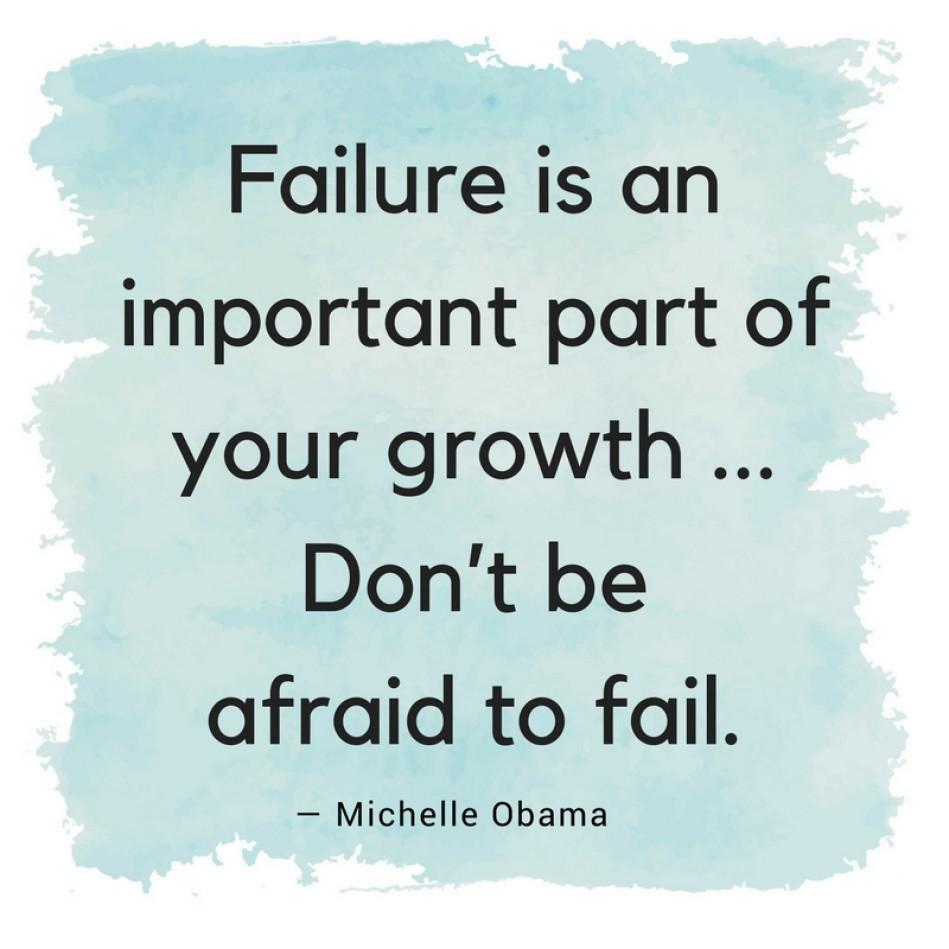 Michelle Obama Quotes Failure