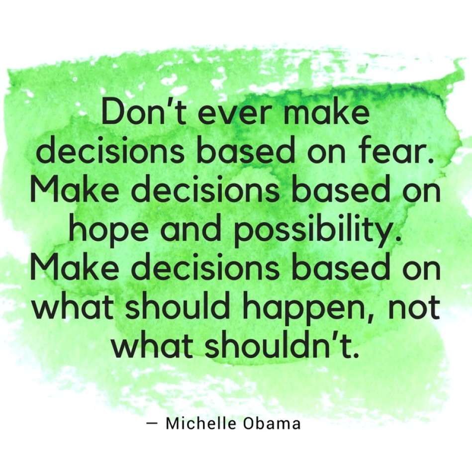 Michelle Obama Quotes Fear