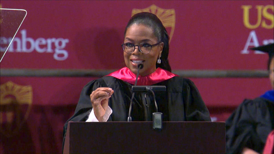 "Oprah To USC Grads: ""Stop Comparing Yourself To Other People"""