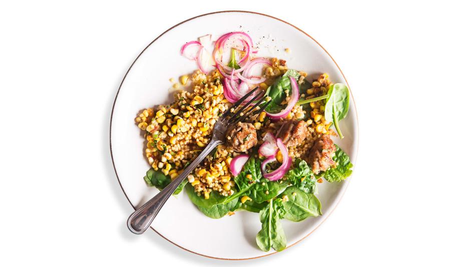 Sausage, Corn, and Basil Millet Salad Recipe